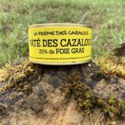 Boite de paté des cazalous aux foies gras