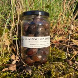 Olives de bouche Noires Tanches en bocal