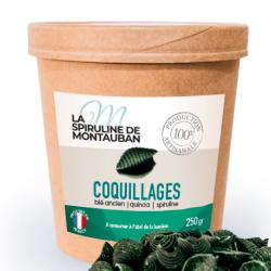Coquillages à la Spiruline, blé ancien et Quinoa