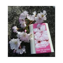 Savons au lait d'ânesse fleur de cerisier