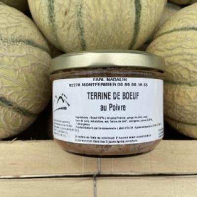 Bocal de Terrine de Bœuf au poivre