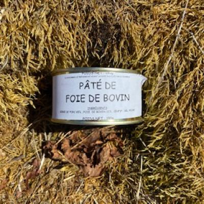 Boîte de pâté de foie de bovin