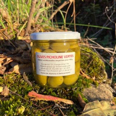 Olives de bouche Picholine en bocal